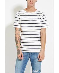 Forever 21 | Natural Cotton Stripe Tee for Men | Lyst