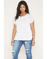 Forever 21 | White Plus Size Chiffon-sleeve Tee | Lyst