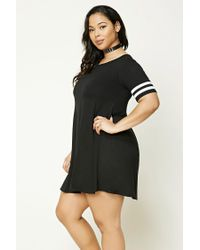Forever 21 | Black Plus Size Varsity Stripe Dress | Lyst