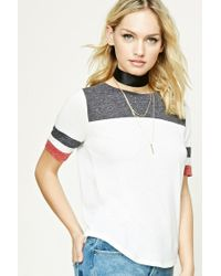 Forever 21 | White Contemporary Colorblock Tee | Lyst