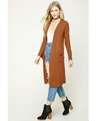 Forever 21 | Multicolor Ribbed Longline Cardigan | Lyst