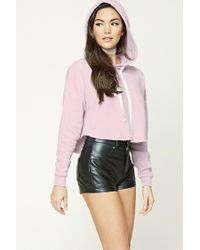Forever 21 | Pink Raw-cut Drawstring Hoodie | Lyst
