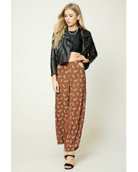Forever 21 | Brown Tiger Print Wide-leg Pants | Lyst