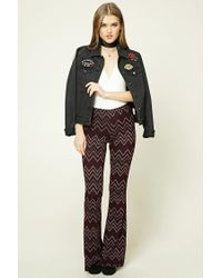 Forever 21 | Black Zigzag Flared Pants | Lyst