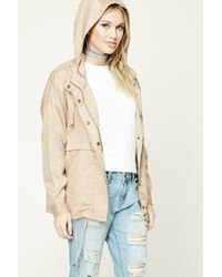 Forever 21 | Natural Contemporary Utility Jacket | Lyst