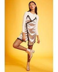 Forever 21 | Multicolor Reverse Lace-trim Slip Dress | Lyst
