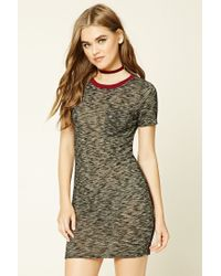 dd3a48b832 Lyst - Forever 21 Marled Knit T-shirt Dress in Gray