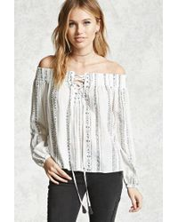 Forever 21 | White Contemporary Self-tie Top | Lyst