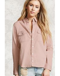 Forever 21   Pink Snap-button Shirt   Lyst
