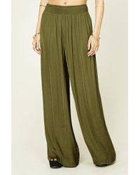 Forever 21 Green Contemporary Palazzo Pants