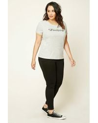 Forever 21 - Gray Plus Size Whatever Tee - Lyst