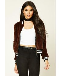 Forever 21 | Brown Contemporary Faux Fur Jacket | Lyst