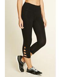 Forever 21 | Black Active Crisscross Leggings | Lyst