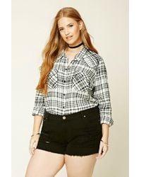 Forever 21 | Black Plus Size Tartan Plaid Shirt | Lyst