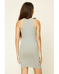 Forever 21 - Gray High Neck Bodycon Dress - Lyst