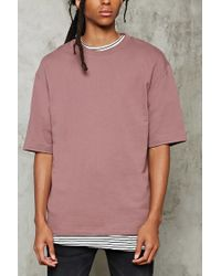Forever 21 | Pink French Terry Knit Tee for Men | Lyst