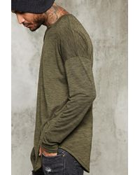 Forever 21 | Green Long-sleeve Marled Knit Tee for Men | Lyst