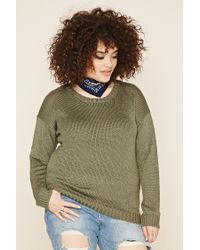 Forever 21 - Green Plus Size Crew Neck Jumper - Lyst