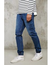 Forever 21 | Blue Cuffed Slim-fit Jeans for Men | Lyst