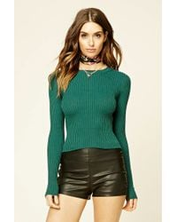 Forever 21 | Green Cable Knit Sweater | Lyst