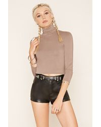 Forever 21 | Multicolor Turtle Neck Top | Lyst
