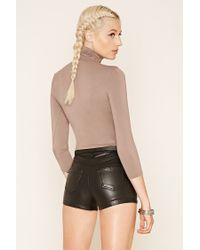 Forever 21 - Multicolor Turtle Neck Top - Lyst