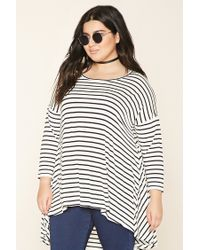 Forever 21 - Black Plus Size Stripe Trapeze Top - Lyst