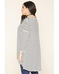 Forever 21 - Black Plus Size Stripe Trapeze Top - Lyst