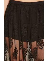 Forever 21 - Black Eyelash Lace Maxi Skirt - Lyst