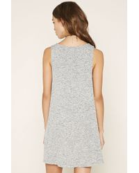 Forever 21 - Blue Heathered Mini Dress - Lyst