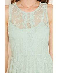 Forever 21 - Green Contemporary Eyelash Lace Dress - Lyst