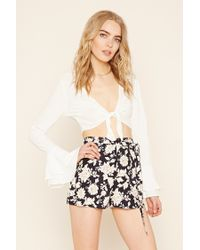 Forever 21 | Multicolor Contemporary Floral Shorts | Lyst
