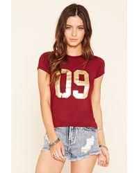 Forever 21 - Red 09 Graphic Tee - Lyst