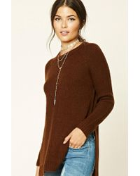 Forever 21 | Brown Contemporary Fuzzy Sweater | Lyst