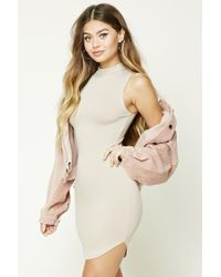 Forever 21 | Natural High Neck Bodycon Dress | Lyst