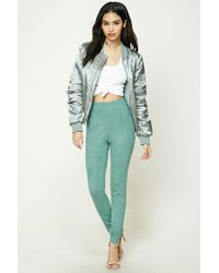 Forever 21 | Green Faux Suede Skinny Pants | Lyst