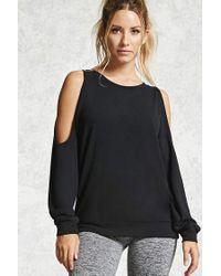 Forever 21 | Black Active Open-shoulder Top | Lyst