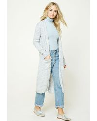 Forever 21 | Blue Contemporary Longline Cardigan | Lyst
