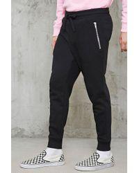 Forever 21 | Black Slim-fit Zippered Sweatpants for Men | Lyst