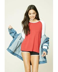 Forever 21 | Red Classic Baseball Tee | Lyst