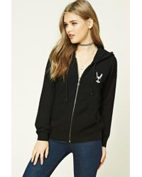 Forever 21 | Black Cool Bunny Graphic Hoodie | Lyst