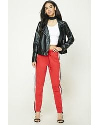 Forever 21 | Red Striped Drawstring Sweatpants | Lyst