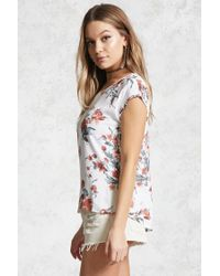 Forever 21 | Multicolor Floral Print Crepe Top | Lyst