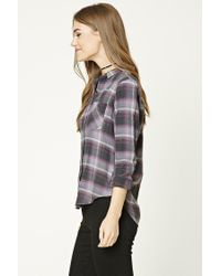 Forever 21 - Gray Plaid Flannel Shirt - Lyst