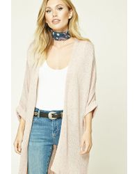 Forever 21 | Pink Contemporary Open-knit Cardigan | Lyst