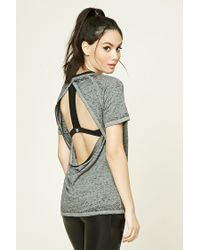 Forever 21 | Gray Active Open-back Top | Lyst
