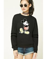 Forever 21 | Black Classic Mickey Mouse Sweatshirt | Lyst