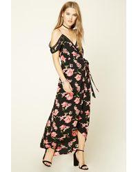Forever 21 | Black Floral Print Maxi Dress | Lyst