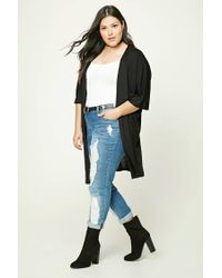 Forever 21   Black Plus Size Open-front Cardigan   Lyst