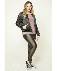 Forever 21   Black Plus Size Faux Leather Leggings   Lyst